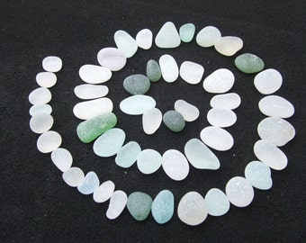 Seaglass supplies. Small mixed Pieces. 50 x Beautiful Small Scottish Seaglass Pieces for Jewellery Making and Crafts