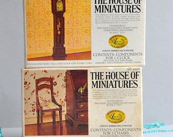 SALE 20% OFF! The House of Miniatures - Dollhouse Furniture - Set of 3