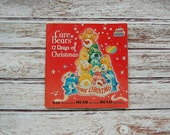Care Bears Book And Record, The Twelve Days Of Christmas, Vintage 1980's Childhood Collectibles
