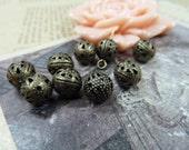 100pcs 8mm The Bead Antique Bronze Retro Pendant Charm For Jewelry Bracelet Necklace Charms Pendants C4884