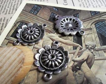 20pcs21x29mm The Flower  Silver White Retro Pendant Charm For necklace Jewelry /PendantsB96