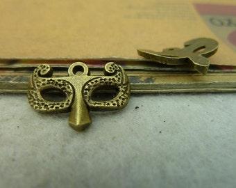 30pcs 14x21mm The Mask  Antique Bronze Retro Pendant Charm For Jewelry Bracelet Necklace Charms Pendants C4032