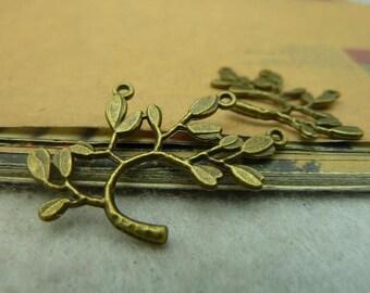 20pcs 22x23mm The Branch  Antique Bronze Retro Pendant Charm For Jewelry Bracelet Necklace Charms Pendants C3536