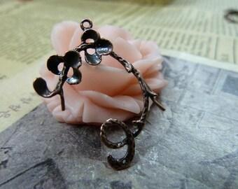 2pcs 17x19mm The Branch Antique Bronze Retro Pendant Charm For Jewelry Bracelet Necklace Charms Pendants C1066