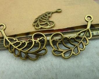 20pcs 14x27mm The Leaves  Antique Bronze Retro Pendant Charm For Jewelry Bracelet Necklace Charms Pendants C2939