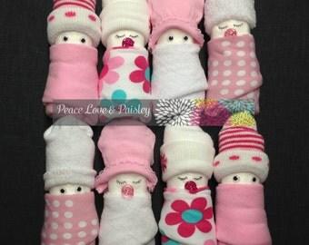 Diaper Babies - Set of 4 - Boy, Girl or Gender Neutral, Baby Shower Decoration, Baby Gift Topper