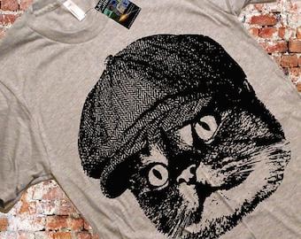 Cat Hooligan Tshirt / Funny Cat T Shirt / American Apparel T-shirt / Size & Color Options