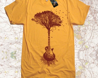 Guitar Tree Music mens T Shirt - American Apparel Tshirt - S M L XL 2X