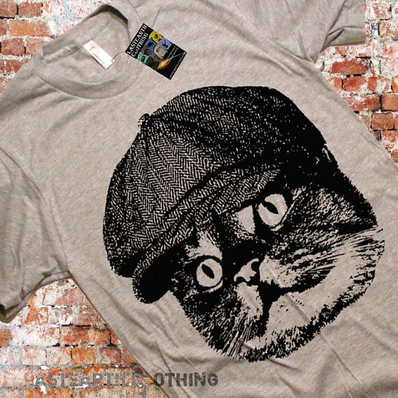 Hooligan Cat T-Shirt Funny Cat Tshirt Cat in a Hat Gift Ideas For Cat Lovers Mens Cat Tshirt Vintage Retro Funny Cats Tees Womens Tshirt