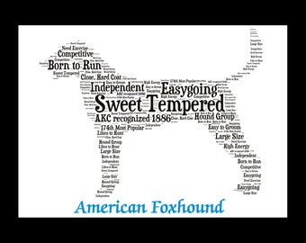 American Foxhound,American Foxhound Art,American Foxhound Artwork,American Foxhound Print,American Foxhound Lover,American Foxhound  Gift