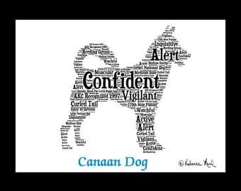 Canaan Dog,Canaan Dog Art,Canaan Dog Artwork,Canaan Dog Print,Canaan Dog Lover,Canaan Dog  Gift