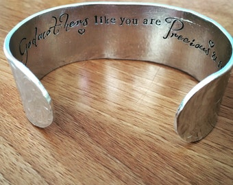 Godmothers like you are precious and few... cuff bracelet...