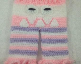 Crochet Baby Monster Pants 0-12 Months