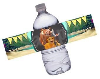 INSTANT DOWNLOAD: Lion King Water Bottle Labels
