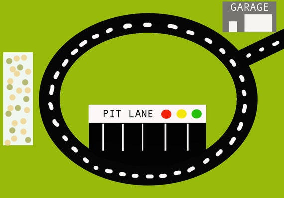 Geeky image with printable race track