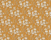 CUSTOM LISTING Fat eighth Capel G, mustard yellow classic floral Liberty print, Liberty of London cotton tana lawn