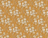 Fat quarter Capel G, mustard yellow classic floral Liberty print, Liberty of London cotton tana lawn
