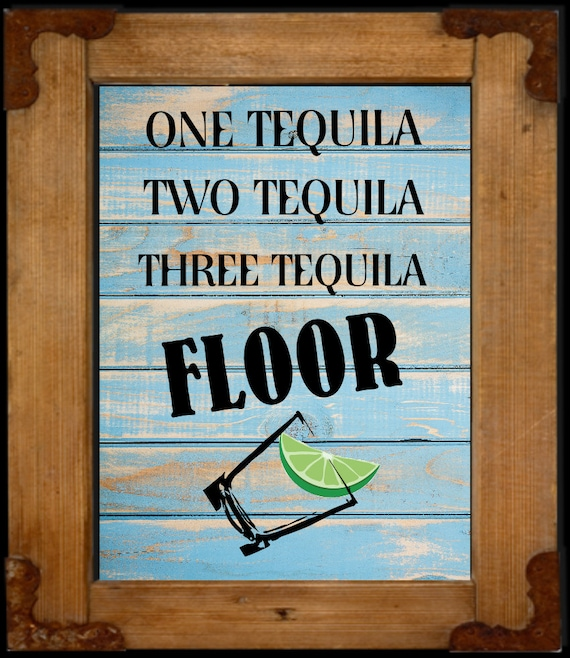 Tequila Art Print Western Bar Sign Western Wall Art Western