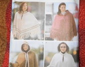 Simplicity 5330 Pattern for Accessories Capes and Ponchos Sized 32 to 42 bust
