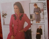 McCalls 9633 Pattern for Misses Lined Jacket and Lined Skirt in Two Lengths Size 24