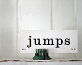 Vintage Flash Card jump jumps