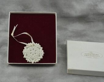 Tewksbury Ornament Snowflake 1989