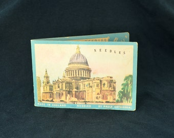Vintage Packet of Needles with St. Pauls Cathedral pictured on it