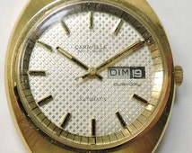 Vintage Caravelle Set-O-Matic... Automatic 17J Watch with Day-Date Display... Circa 1975