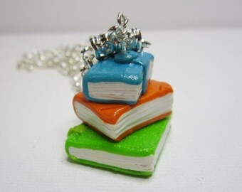 Book Stack Necklace
