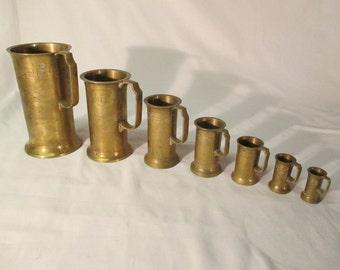 Measuring Cups, Vintage, set of 7