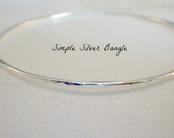 Plain Simple Sterling Silver Stacking Bangle