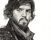 A4 Art Print Tom Burke / Athos - Musketeers