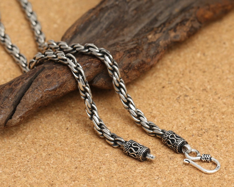 925 sterling silver chain, silver statement necklace ...