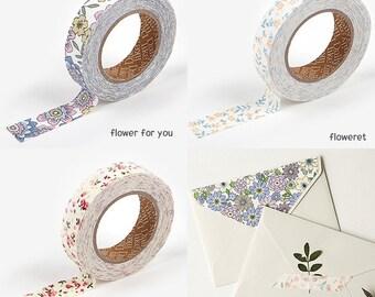 Decorative Adhesive Floral Pattern Masking Tape