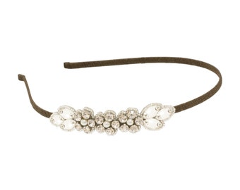 Wedding head band, Silverhead band, Bridal head band, Flower head band, Sparkly head band, Wedding headbands