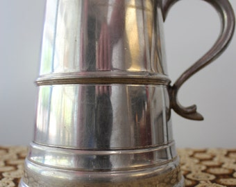 Pewter Beer Mug with Dice in Bottom Made in England