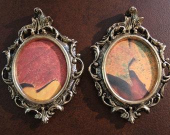 Vintage Ornate Brass Frames, Small Metal Frame