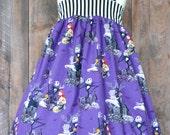 Nightmare Before Christmas Dress, Girls Disney Dress, Disney Clothing, sizes newborn-girls 7