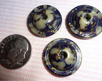 3 Vintage Whistle Buttons