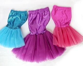 Little Mermaid Tail & Halloween Costume - SKIRT ONLY - Sizes 0-4t
