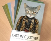 The 9 Lives of Cats In Clothes Print Set