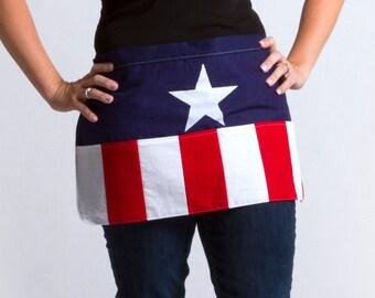 Captain America-n Flag Half Apron