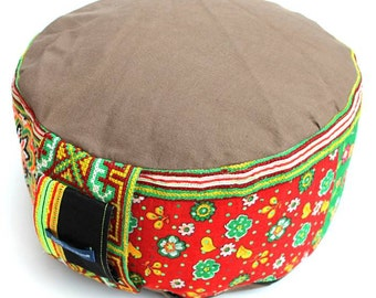 MeditationCushion Yoga FloorCushion ZAFU  & POUF ORIGINAL Handmade from Germany