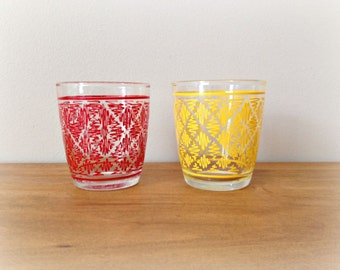 Retro Jelly Jar Glasses Mid Century 1950s Kitchen