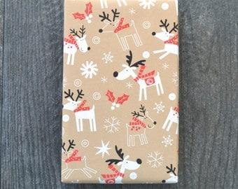 Reindeer Children's Christmas Wrapping Paper, 2 Feet x 10 Feet