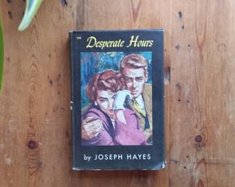"Vintage 1954 Random House PULP MID CENTURY Thriller Suspense Novel, ""Desperate Hours"" by Joseph Hayes"