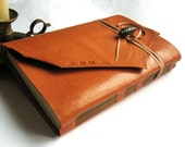 """Leather Sketchbook, Wedding Guest Book, Leather Journal Handmade, Gifts Under 50, Wedding gift. A5 size, to choose """"Meditatio"""" series"""