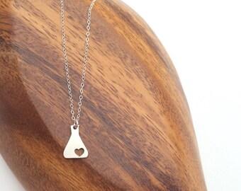 Science Erlenmeyer Flask Chemistry Necklace Jewelry, Chemistry necklace, Nerd Necklace, Love Science jewelry