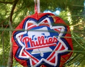 Phillies Ornament Quilted Fabric