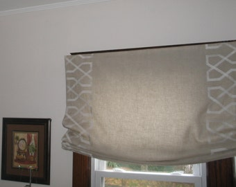 Custom Made To Order Flat - Relaxed Roman Shades - Per Square Foot